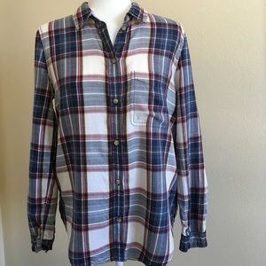 Plaid Lightweight Red White & Blue Button Down